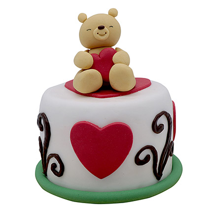 Teddy Cake For Valentines Day: Valentine Cakes for Wife