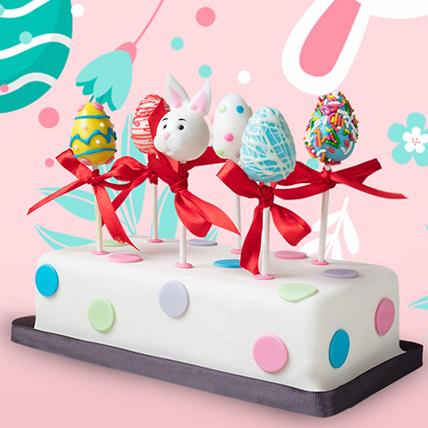 Happy Easter Cake Pops 6 Pcs: Cake Pops