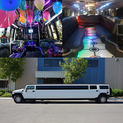 Royal White Limousine Experience: Order Christmas Party Supplies