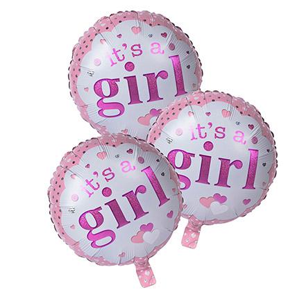 Its A Girl Foil Balloons: Balloons