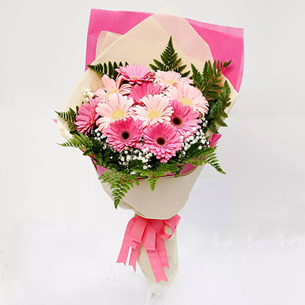 Beautiful Pink Gerbera Bouquet: Flower Bouquets