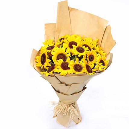 Sunny Hill 20 Sunflowers Bouquet: Sunflowers Bouquets