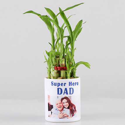 2 Layer Bamboo in Personalised Super Hero Dad Mug: Personalised Combos