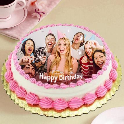 Delicious Birthday Photo Cake: Birthday Photo Cakes
