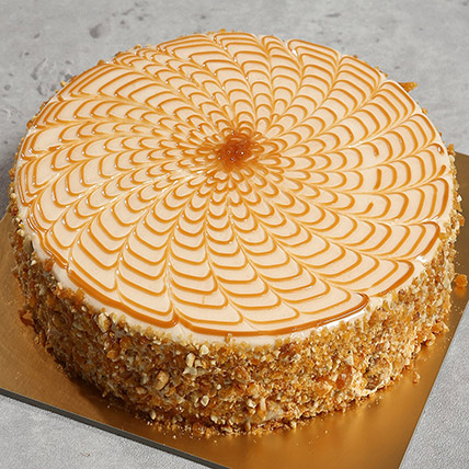 500gm Yummy Butterscotch Cake: Cakes Delivery in Umm Al Quwain