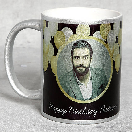 Personalised Silver Birthday Mug: Personalized Gifts for Birthday