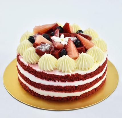 4 Portions Red Velvet Cake:  Birthday Cakes for Kids