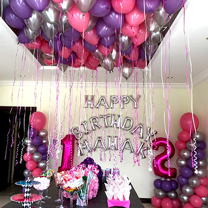 Balloons & Floral Birthday Surprise: Balloon Decorations