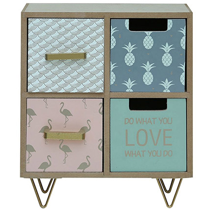 Protas Kids Book Case With 4 Drawers: Back to School Gifts