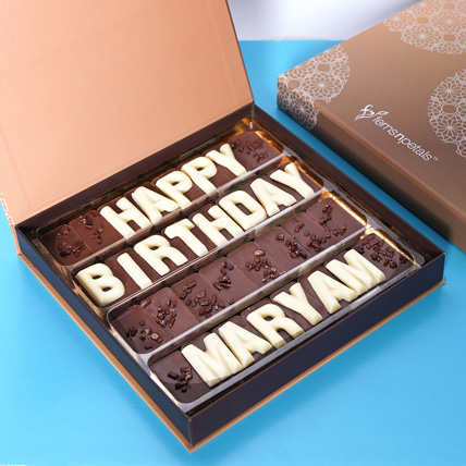 Customized Happy Birthday Chocolate: Midnight Gifts Delivery