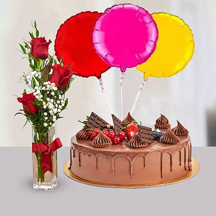 Birthday Surprise Collection: Cake and Flowers