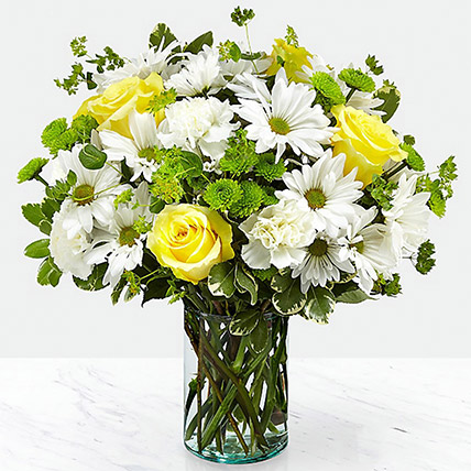 Vase Of Happy Flowers: Thank You Flowers