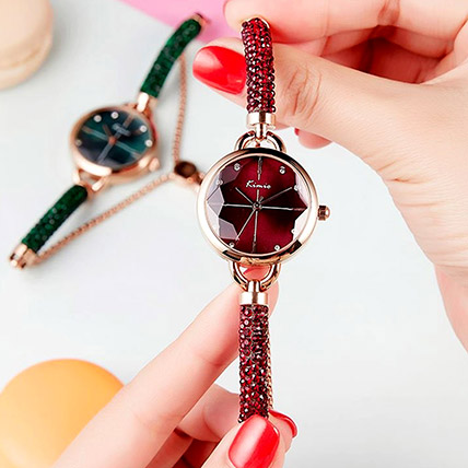 KIMIO Shining Red Watch: Accessories