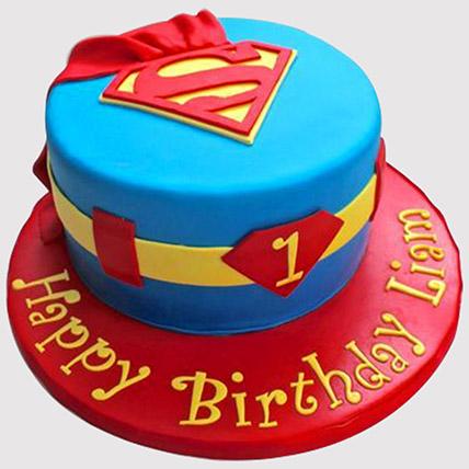 Super man Cake: Kids Birthday Cakes