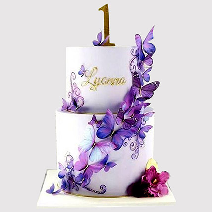 2 Tier Butterfly Cake: Butterfly Cakes