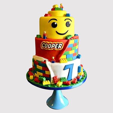 3 Tier Lego Cake: Lego Birthday Cake
