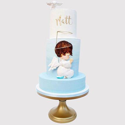 Angel Christening Cake: Christening Cakes