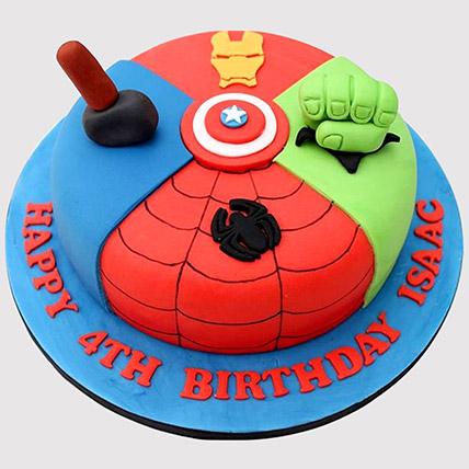 Avengers Special Fondant Cake: Avengers Cakes