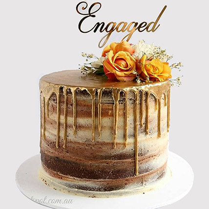 Floral Engagement Cake: Engagement Cakes