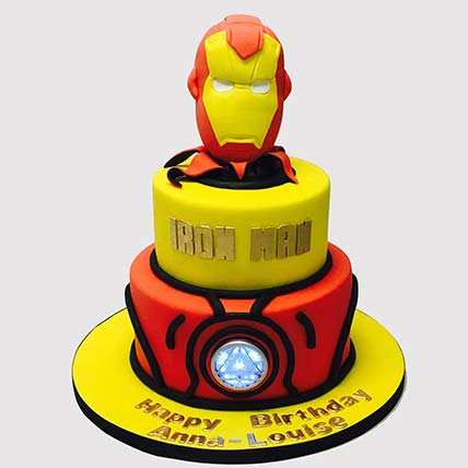 Iron Man Fondant Theme Cake: Iron Man Cakes
