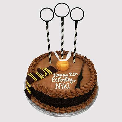 Magical Quidditch Theme Cake: Harry Potter Cakes
