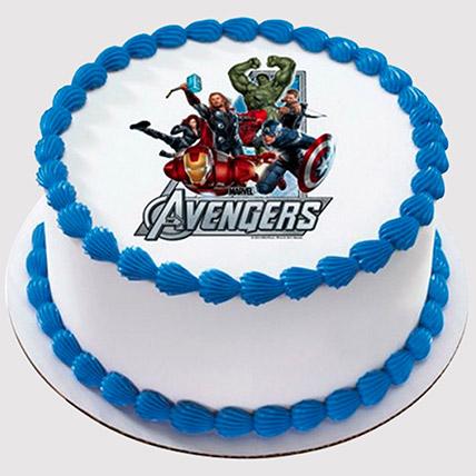 Marvel Avengers Round Photo Cake: Avengers Cakes