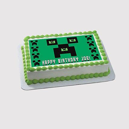 Minecraft Photo Cake: Minecraft Cake
