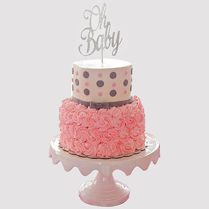 Oh Baby Fondant Cake: Baby Shower Cakes