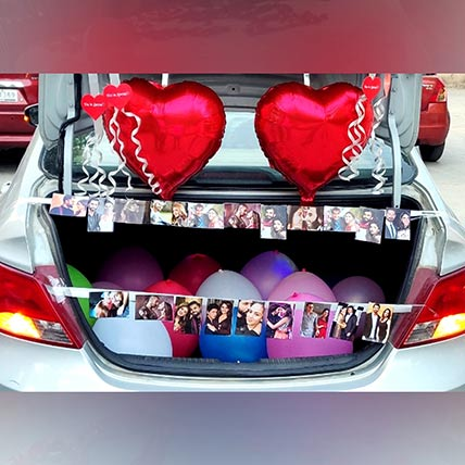 Personalised Picture Car Trunk Decor: Balloon Decorations