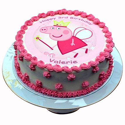 Peppa Pig Cream Cake: Baby Shower Cakes