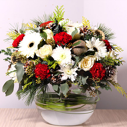 Bowl Of Fragrant Flowers: Christmas Flowers Delivery in Sharjah