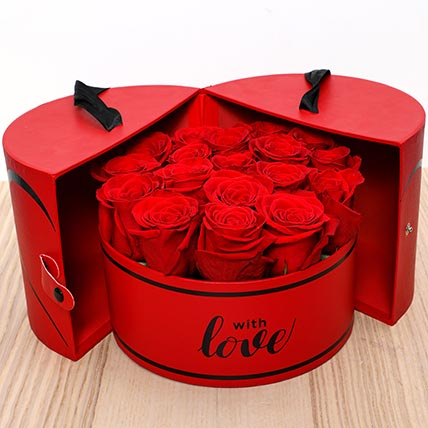 Luxurious Roses Box: Valentines Flowers