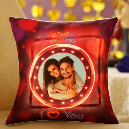 Lovey Dovey Personalised LED Cushion: New Arrival Gifts