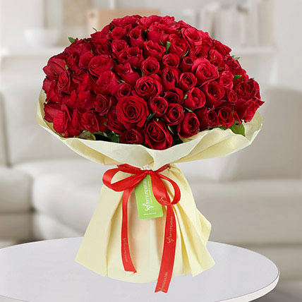 Premium Bouquet of 150 Red Roses: Valentines Day Flowers to Abu Dhabi