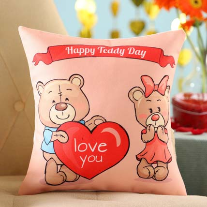 Teddy Love Cushion: Teddy Day Gifts