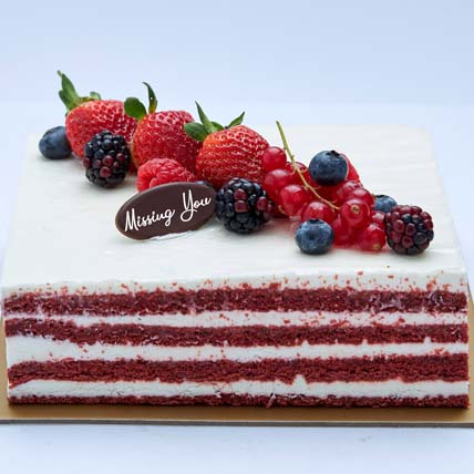 Miss You 4 Portion Red Valvet Cake: I Am Sorry Flowers