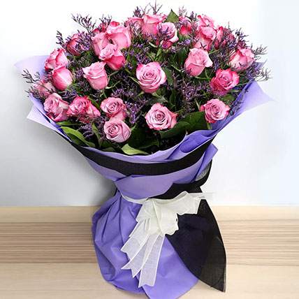 Dual Shade Purple Roses Bouquet: New Arrival Gifts