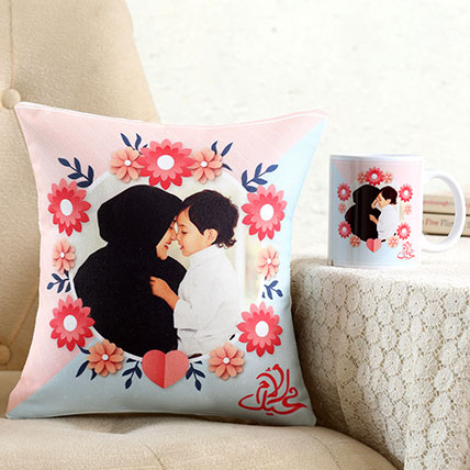 Personalised Pretty Cushion n Mug For Mom: Mothers Day Combos