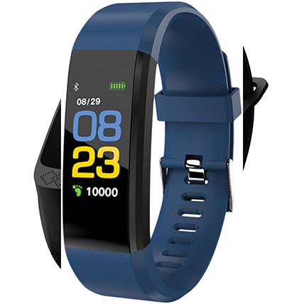Blue N Black Activity Tracker: Watches for Her