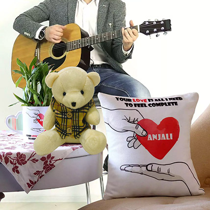 Personalised Musical Gift With Lucky Bamboo: Flowers and Guitarist Service