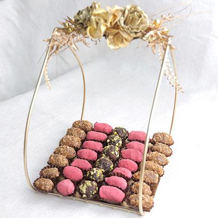Crunchy Dates Elegant Arrangement: Ramadan Chocolates