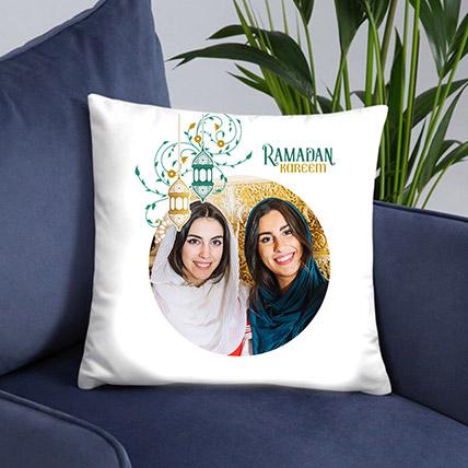 Ramadan Greetings Photo Cushion: Personalised Ramadan Gifts