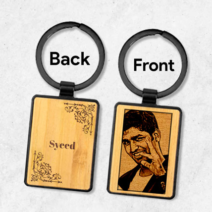 Wooden Keychain Personalised With Photo: Personalized Gifts