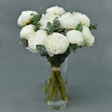 Perfect White Peonies: Peony Bouquet