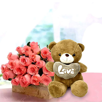 Perfect Fantasy: Flowers and Teddy Bears