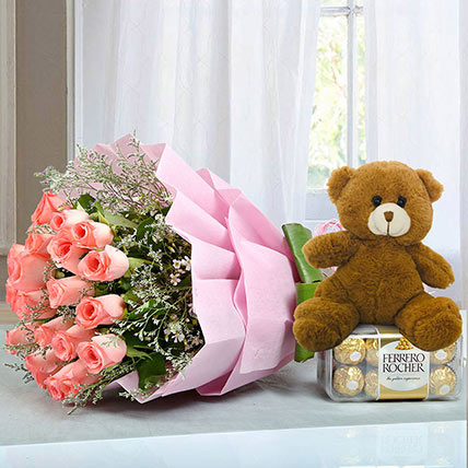 Hamper to Surprise U: Birthday Flowers & Teddy Bears