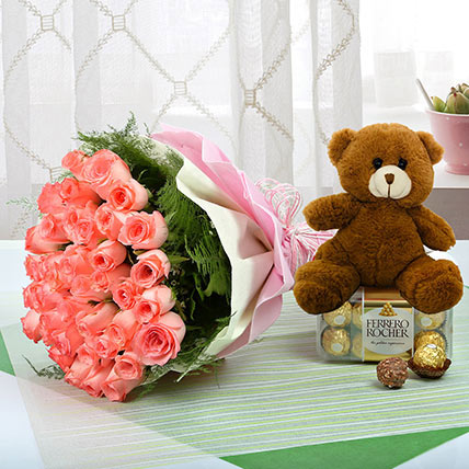 Showing Ur Heartiest Emotions: Teddy Day Flowers and Teddy Bears
