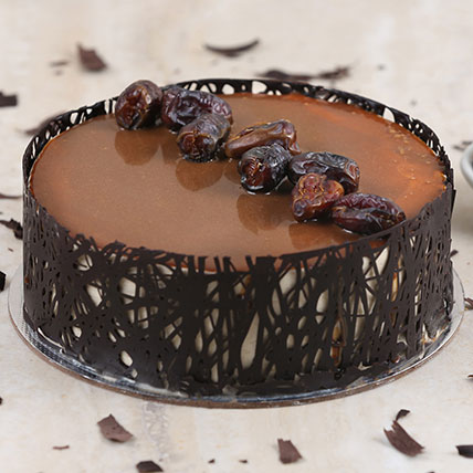 Delectable Dates Cake:  Eggless Cake Delivery
