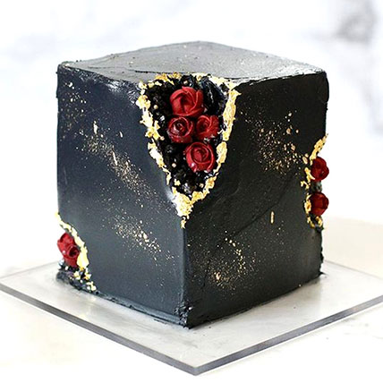 Marble Effect Chocolate Cake 2Kg: Designer Cakes  Delivery