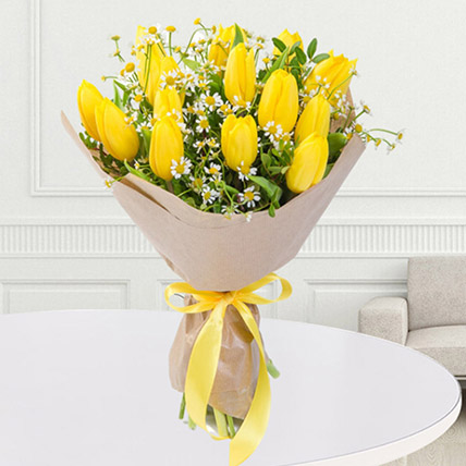 Yellow Tulips Bouquet: Order Flowers